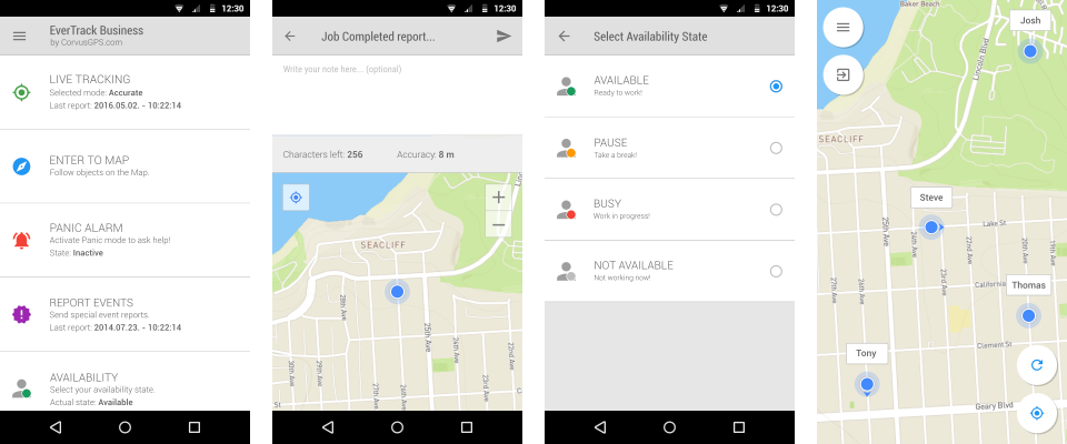 Apps of android - gps tracking of cell phone